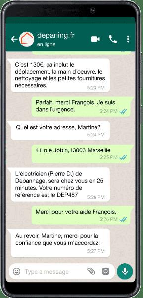 Contacter Depaning.fr sur Watsapp